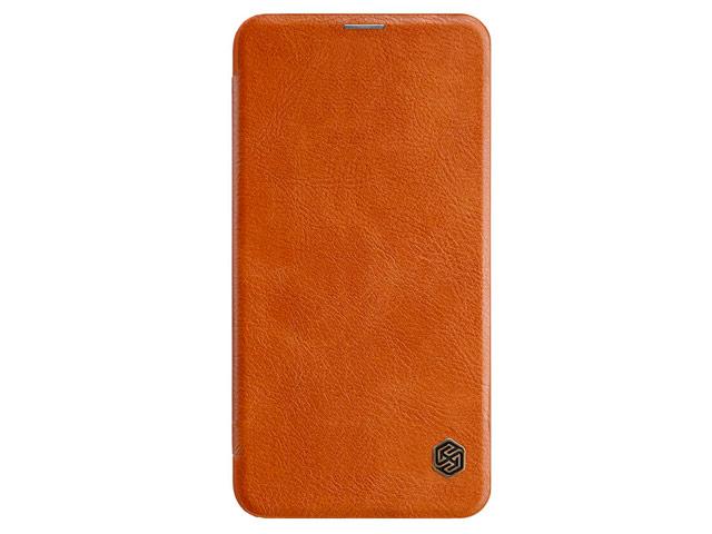 Чехол Nillkin Qin leather case для Samsung Galaxy S10 lite (коричневый, кожаный)