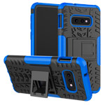 Чехол Yotrix Shockproof case для Samsung Galaxy S10 lite (синий, гелевый)