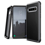 Чехол X-doria Defense Lux для Samsung Galaxy S10 plus (Black Carbon, маталлический)
