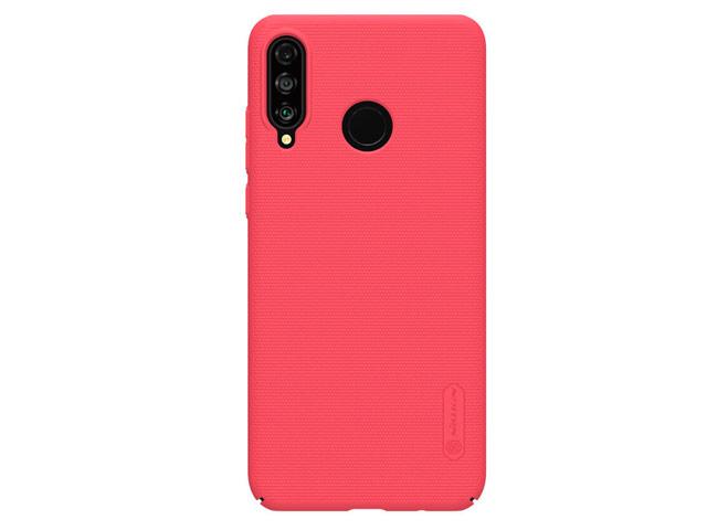 Чехол Nillkin Hard case для Huawei P30 lite (красный, пластиковый)