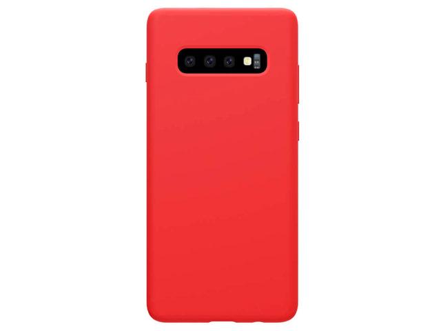 Чехол Nillkin Flex Pure case для Samsung Galaxy S10 (красный, гелевый)