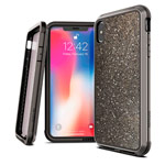 Чехол X-doria Defense Lux для Apple iPhone XS (Crystal Black, маталлический)