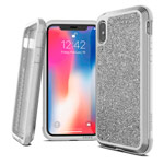 Чехол X-doria Defense Lux для Apple iPhone XS (Crystal White, маталлический)