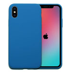Чехол Yotrix LiquidSilicone для Apple iPhone XS (синий, гелевый)