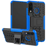 Чехол Yotrix Shockproof case для Huawei P30 lite (синий, пластиковый)