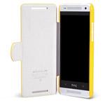 Чехол Nillkin Side leather case для HTC One mini 601e (HTC M4) (желтый, кожанный)