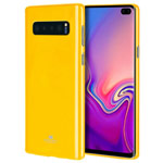 Чехол Mercury Goospery Jelly Case для Samsung Galaxy S10 plus (желтый, гелевый)