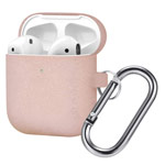 Чехол Synapse Buckle Case для Apple AirPods (Pink Glitter, силиконовый)