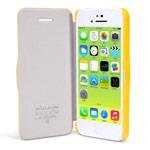 Чехол Nillkin Side leather case для Apple iPhone 5C (желтый, кожанный)