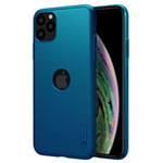 Чехол Nillkin Hard case для Apple iPhone 11 pro (синий, с отверстием, пластиковый)
