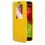 Чехол Nillkin Fresh Series Leather case для LG G2 D802 (желтый, кожанный)