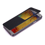 Чехол Nillkin Magic Leather case для Samsung Galaxy Note 3 N9000 (черный, адаптер QI, кожанный)