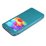 Чехол Nillkin Sparkle Leather Case для Samsung Galaxy S5 i9600 (голубой, кожаный)