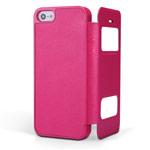 Чехол Nillkin Sparkle Leather Case для Apple iPhone 5/5S (розовый, кожаный)