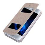 Чехол Nillkin Sparkle Leather Case для Apple iPhone 5/5S (золотистый, кожаный)