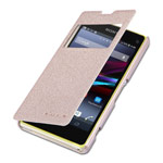 Чехол Nillkin Sparkle Leather Case для Sony Xperia Z1 compact M51W (золотистый, кожаный)