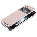 Чехол Nillkin Sparkle Leather Case для HTC new One (HTC M8) (золотистый, кожаный)