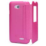 Чехол Nillkin Sparkle Leather Case для LG L70 D325 (розовый, кожаный)