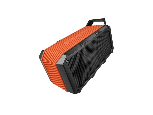 Портативная колонка Divoom Voombox-Ongo (оранжевая, беcпроводная, стерео)