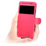 Чехол Nillkin Fresh Series Leather case для HTC One E8 (красный, кожаный)