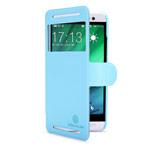 Чехол Nillkin Fresh Series Leather case для HTC One E8 (голубой, кожаный)
