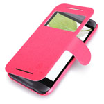 Чехол Nillkin Fresh Series Leather case для HTC One mini 2 (HTC M8 mini) (красный, кожаный)