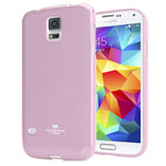 Чехол Mercury Goospery Jelly Case для Samsung Galaxy S5 SM-G900 (розовый, гелевый)