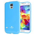 Чехол Mercury Goospery Jelly Case для Samsung Galaxy S5 SM-G900 (голубой, гелевый)
