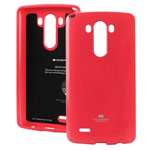 Чехол Mercury Goospery Jelly Case для LG G3 D850 (малиновый, гелевый)
