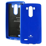 Чехол Mercury Goospery Jelly Case для LG G3 D850 (синий, гелевый)