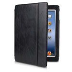 Чехол Dexim Vogue Folio Jacket Glossy для Apple iPad 2/new iPad (черный, кожаный)