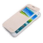 Чехол Nillkin Sparkle Leather Case для Samsung Galaxy S5 mini SM-G800 (золотистый, кожаный)