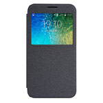Чехол Nillkin Sparkle Leather Case для Samsung Galaxy E5 SM-E500 (темно-серый, винилискожа)