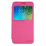 Чехол Nillkin Sparkle Leather Case для Samsung Galaxy E5 SM-E500 (розовый, винилискожа)
