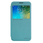 Чехол Nillkin Sparkle Leather Case для Samsung Galaxy E5 SM-E500 (голубой, винилискожа)