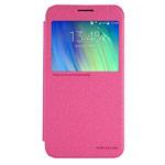 Чехол Nillkin Sparkle Leather Case для Samsung Galaxy E7 SM-E700 (розовый, винилискожа)