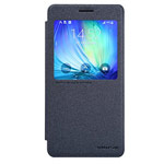 Чехол Nillkin Sparkle Leather Case для Samsung Galaxy A7 SM-A700 (темно-серый, винилискожа)