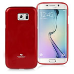 Чехол Mercury Goospery Jelly Case для Samsung Galaxy S6 edge SM-G925 (красный, гелевый)