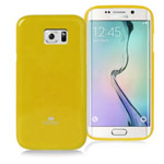 Чехол Mercury Goospery Jelly Case для Samsung Galaxy S6 edge SM-G925 (оранжевый, гелевый)