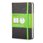 Записная книжка Moleskine Evernote Smart Notebook (90x140 мм, черная, линейка, 192 страницы)
