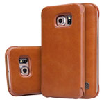 Чехол Nillkin Qin leather case для Samsung Galaxy S6 edge SM-G925 (коричневый, кожаный)