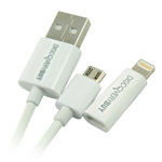 USB-кабель Discovery Buy USB Lightning cable для Apple iPhone 5/iPad 4/iPad mini/iPod touch 5/iPod nano 7 (белый, Lightning, microUSB)